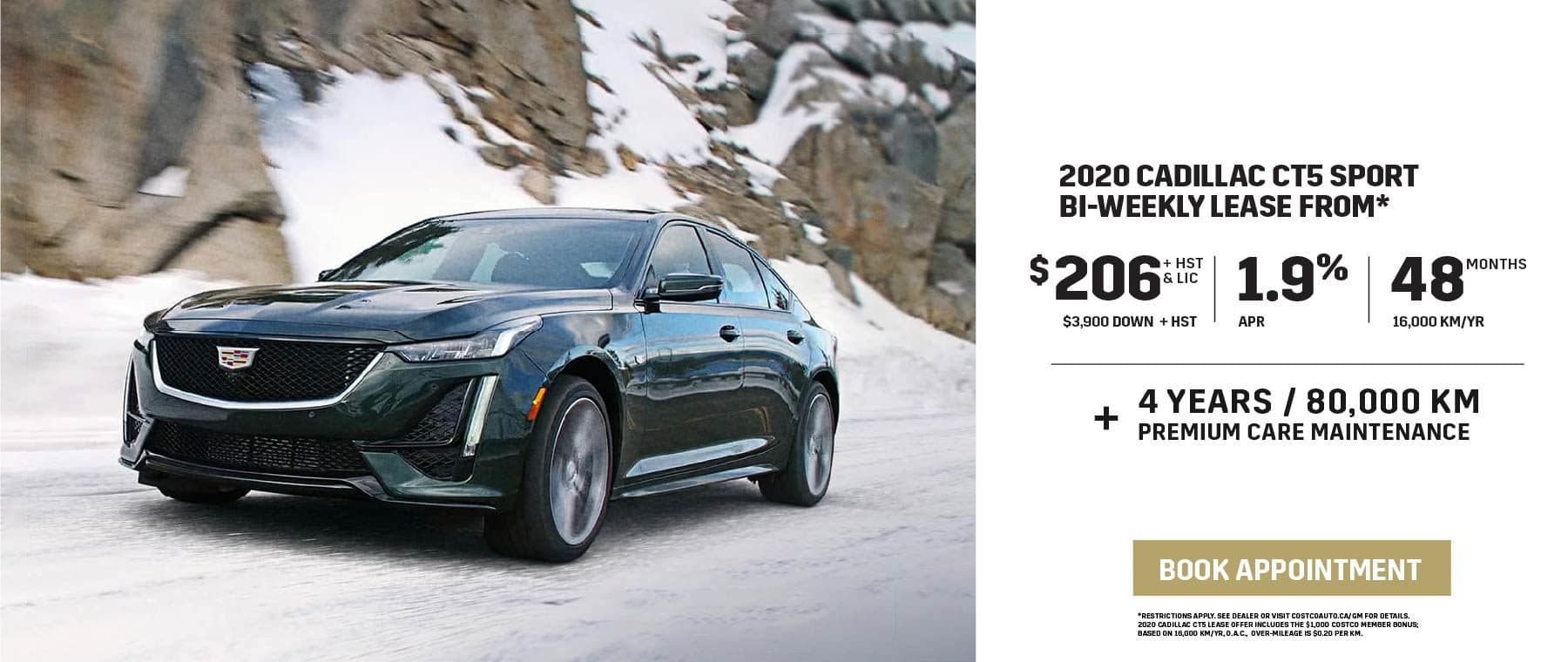 2020 CADILLAC CT5 SPORT BI-WEEKLY LEASE FROM $206 Bi-Weekly FOR 48 MONTHS