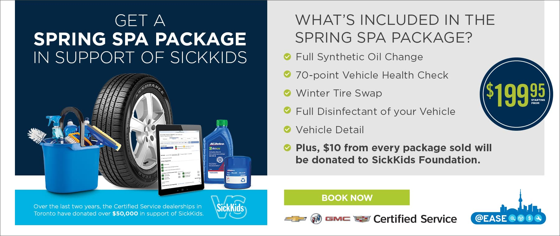Spring Spa Package Certified Service Banner