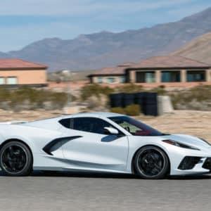2022 Chevrolet Corvette Coupe with Artic White exterior