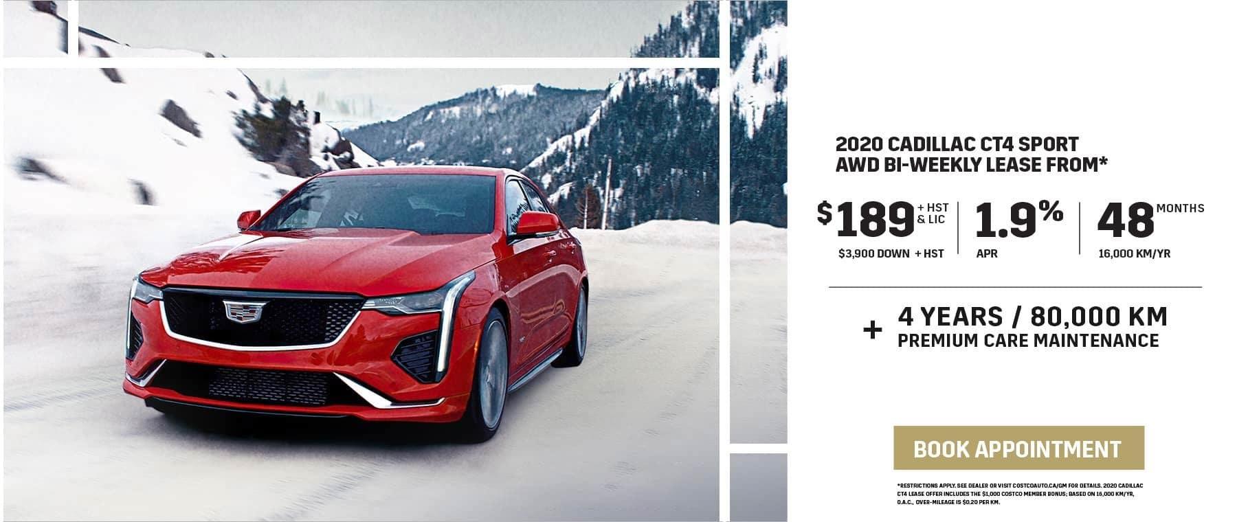 2020 CADILLAC CT4 SPORT AWD BI-WEEKLY LEASE FROM $189 Bi-Weekly