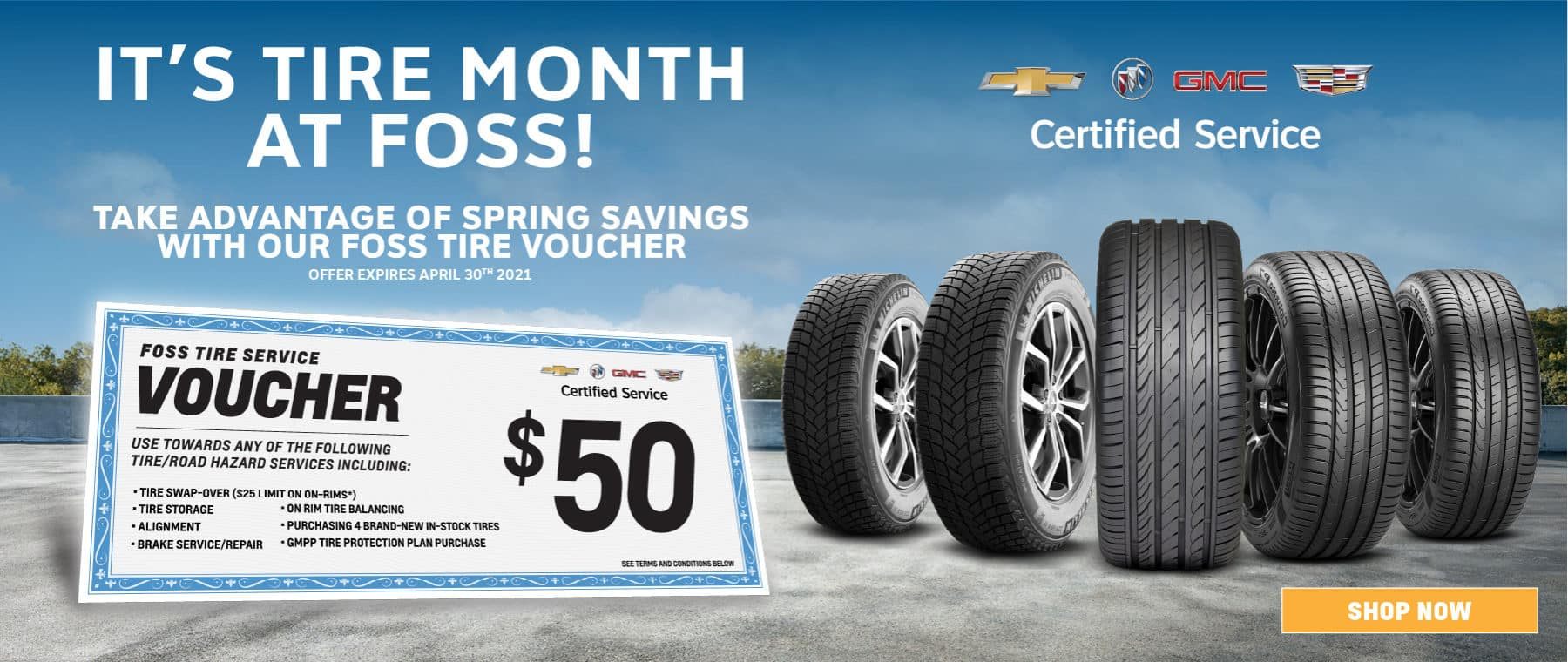 It's Tire Month at Foss