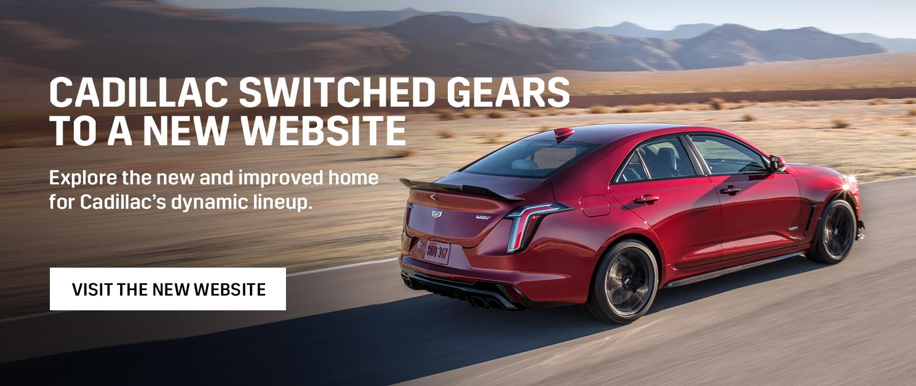 We have a new Cadillac Website
