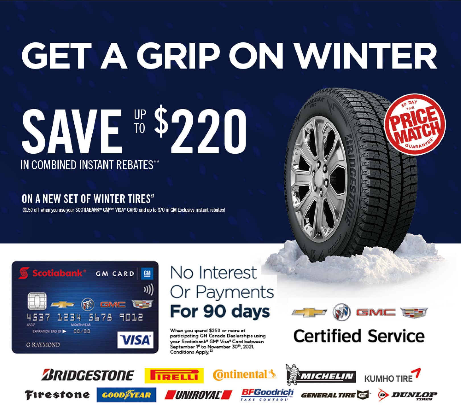 Get a Grip on Winter and Save up to $220 on winter tires