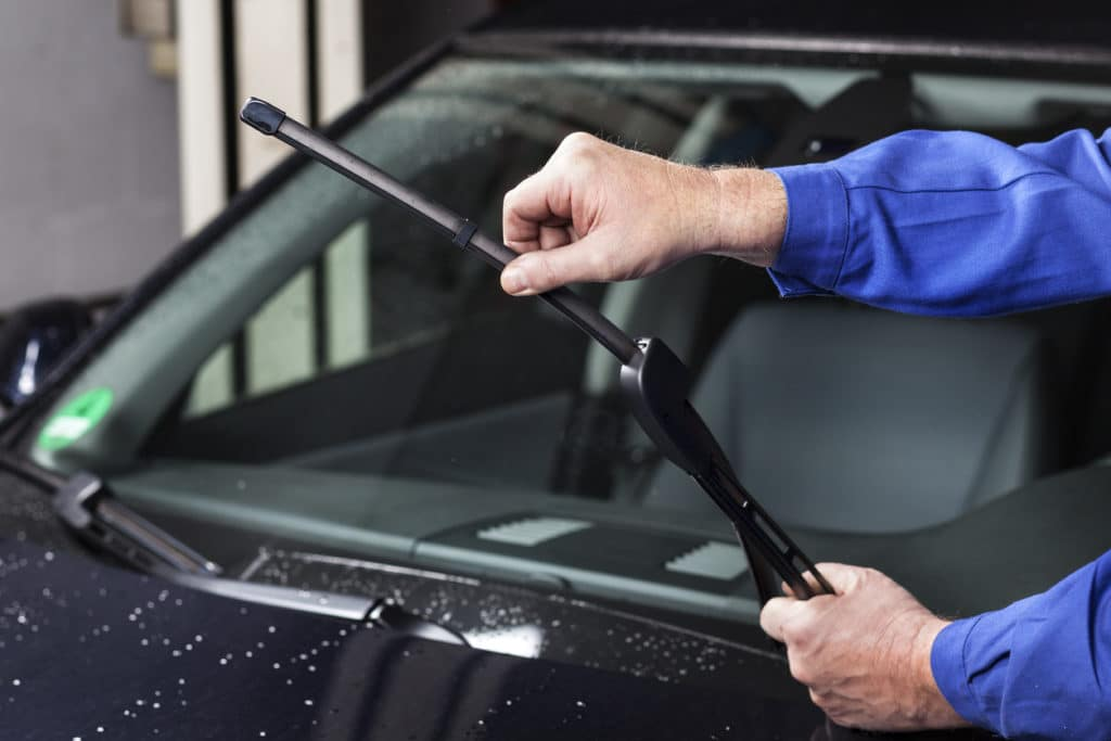 replacing windshield wiper blades