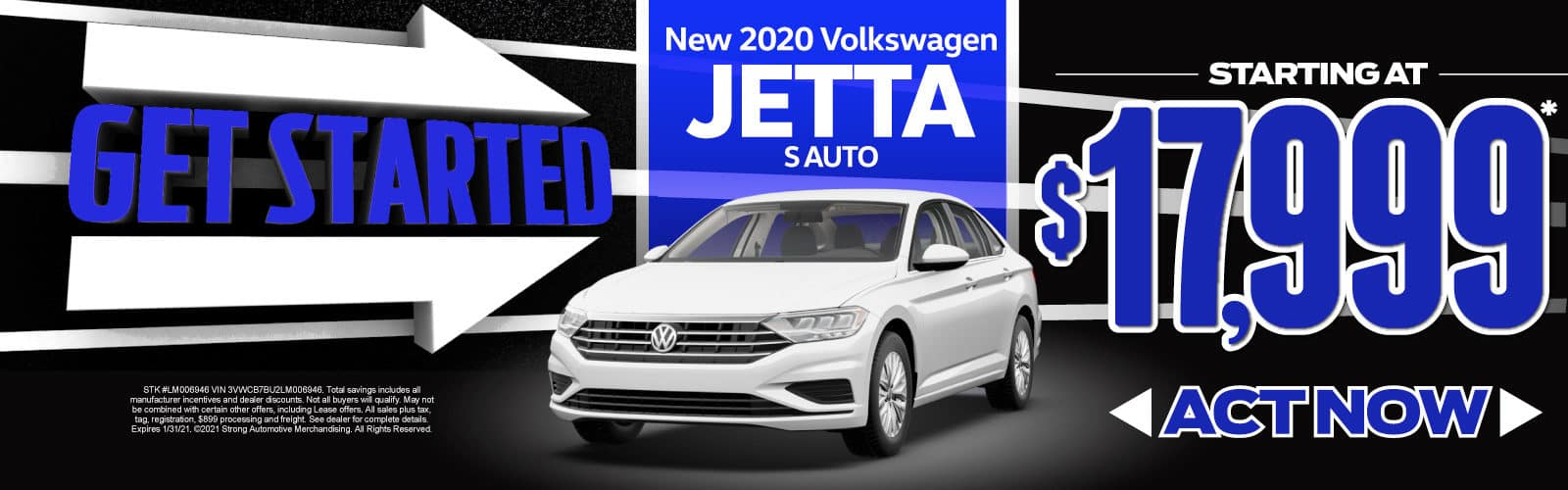New 2020 VW Jetta - Starting at $17,999 - Act Now