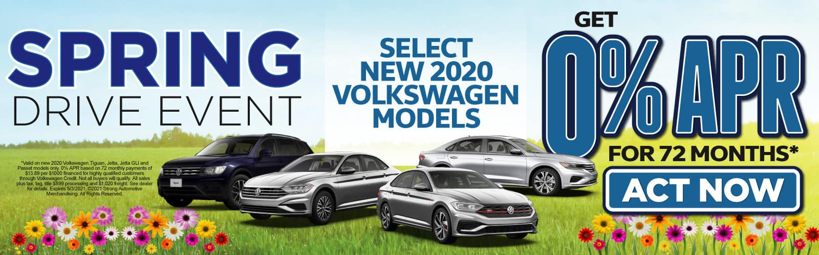 Select New 2020 VW Models - 0% APR for up to 72 months - Act Now