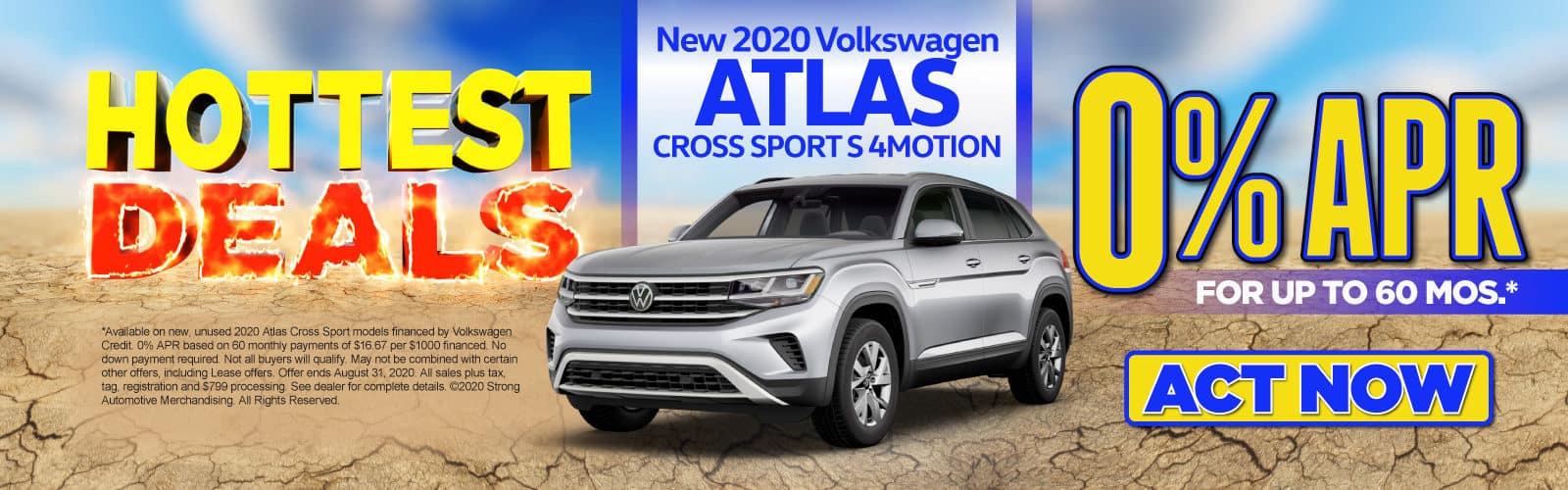 New 2020 Atlas CrossSport - 0% APR for up to 60 months - Act Now