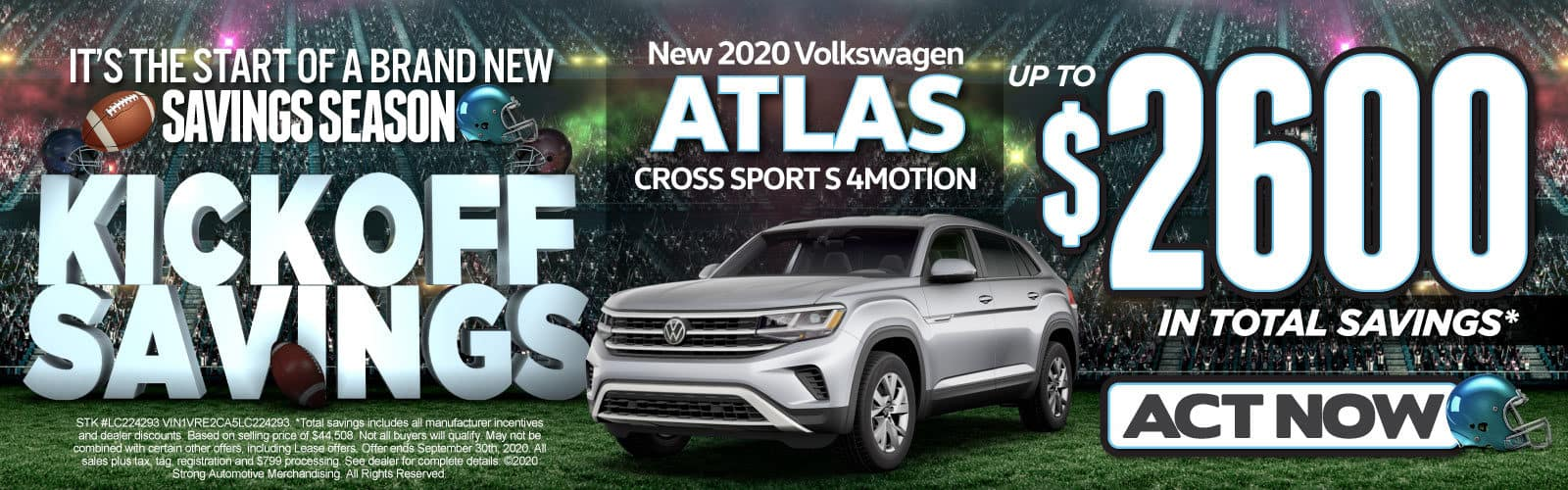 New 2020 Atlas CrossSport - Up to $2600 in total savings - Act Now