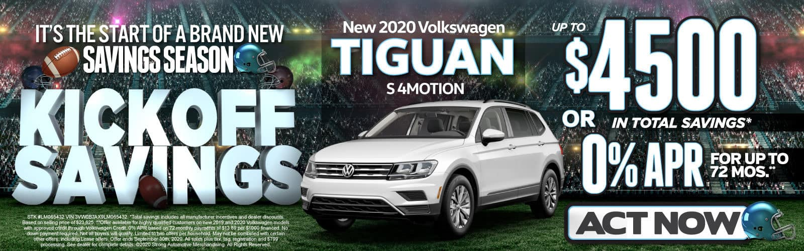 New 2020 VW Tiguan - Up to $4500 in total savings - Act Now