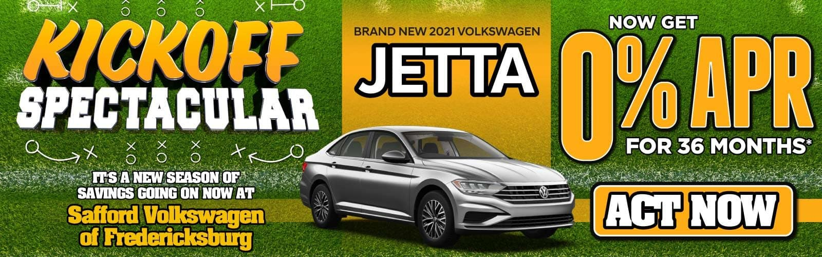 New 2021 Volkswagen Jetta 0% APR for 36 Months — ACT NOW