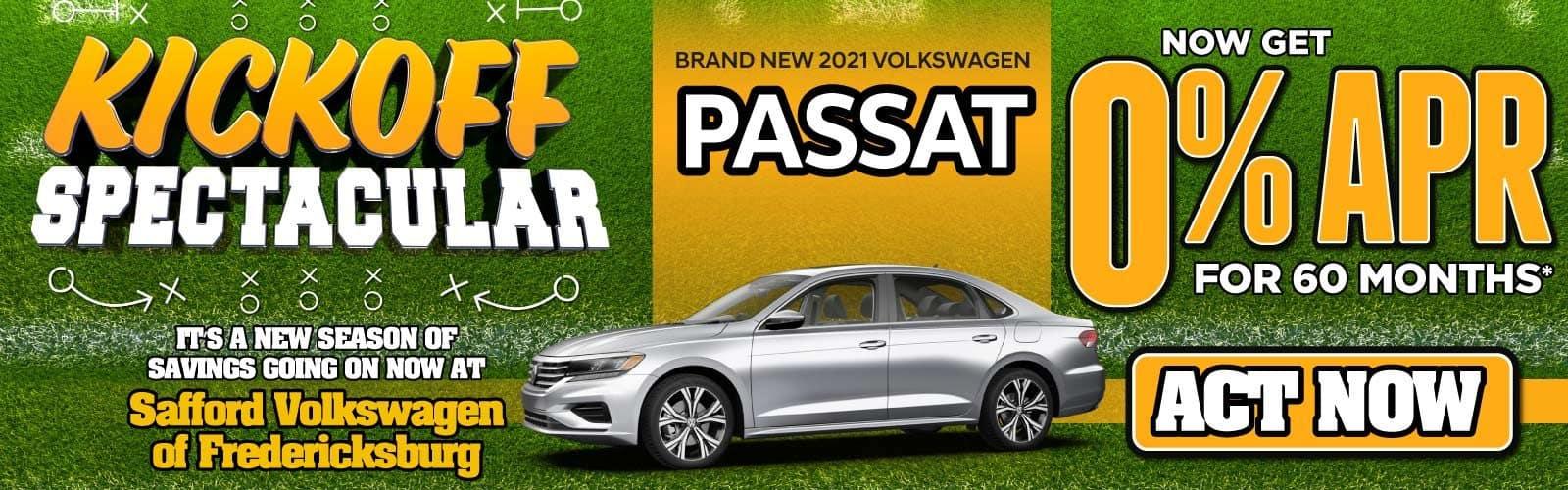 New 2021 Volkswagen Passat 0% APR for 60 Months — ACT NOW