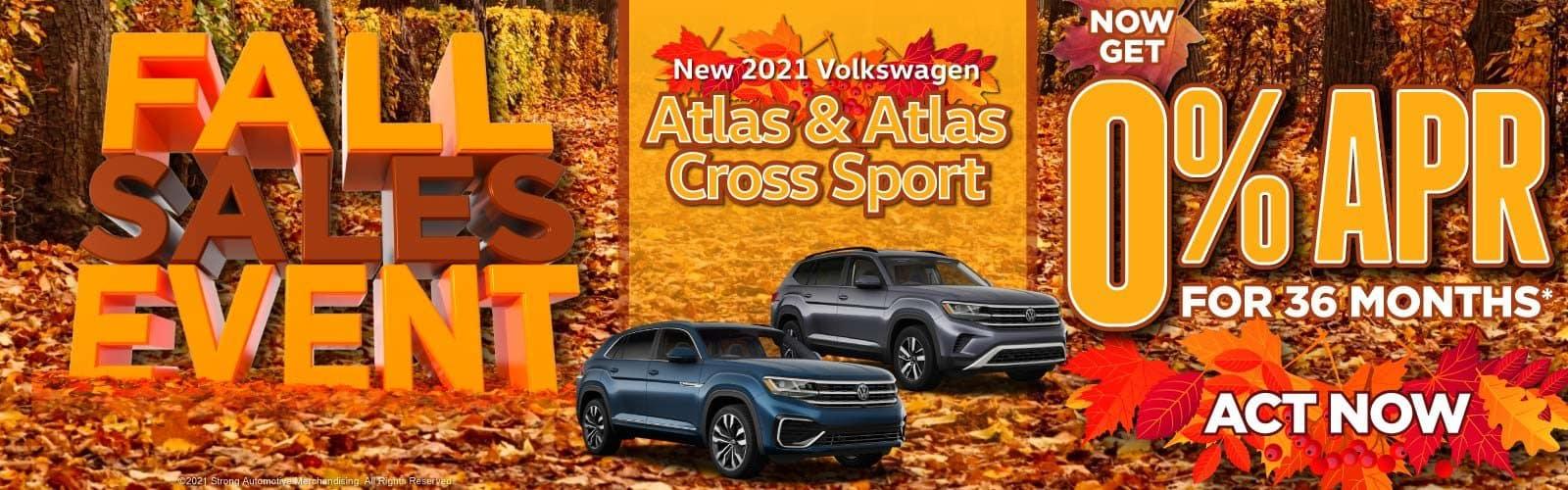 New 2021 Volkswagen Atlas & Atlas Cross Sport - Now Get 0% APR for 36 Months — ACT NOW