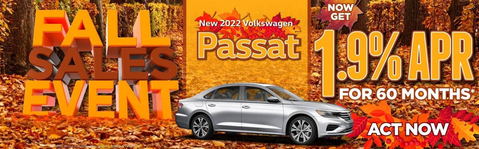 New 2021 Volkswagen Passat - Now Get 1.9% APR for 60 Months — ACT NOW