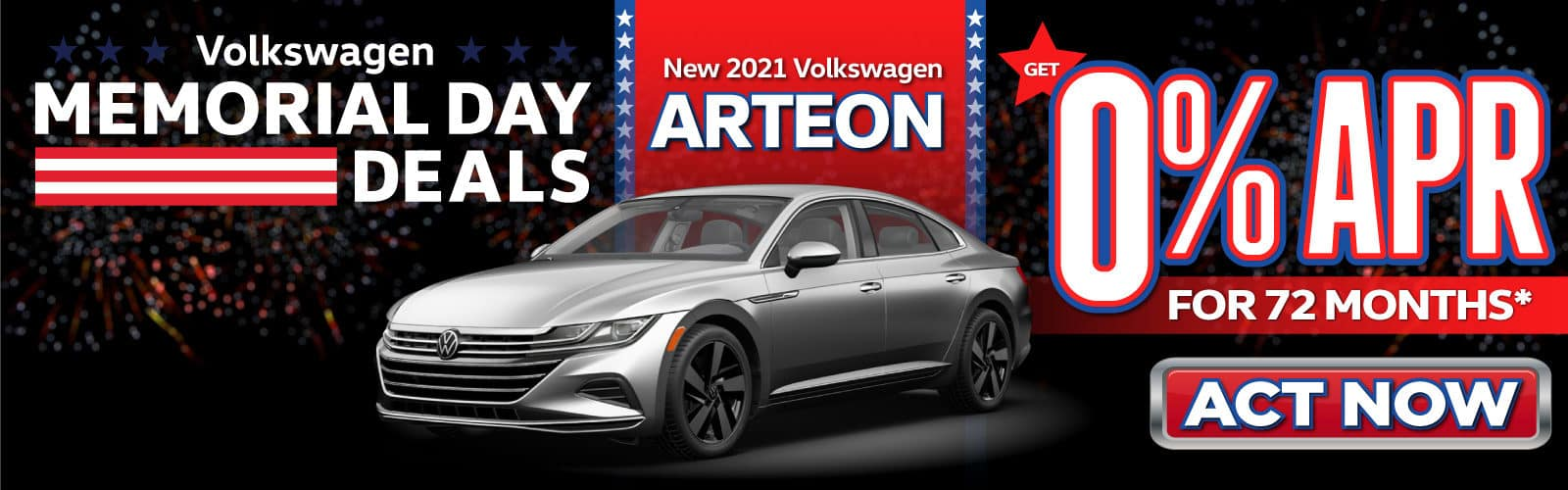 New 2021 VW Arteon - 0% APR for 72 months - Act Now