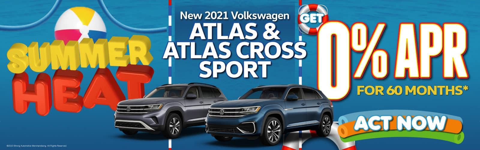 New 2021 VW Atlas and Atlas Cross Sport - 0% APR for 60 months