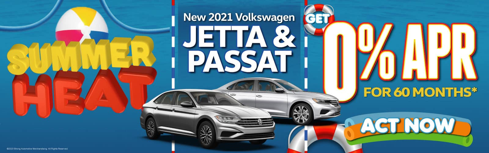 New 2021 VW Jetta and Passat - 0% APR for 60 months