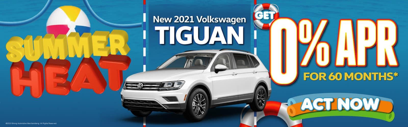 New 2021 VW Tiguan - 0% APR for 60 months