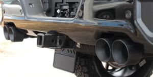 Close up of exhaust on Silverado half ton