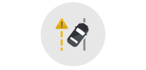 Icon for Lane Keep Assist with Depart Warning