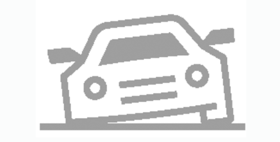 Icon of car with flat tire