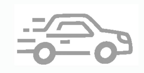 Icon of speeding car