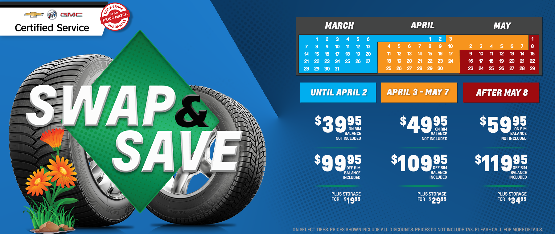 Swap and Save on Spring Tire Change