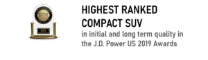 J.D. Power Highest Ranked Compact SUV Award