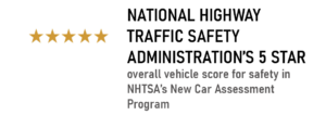 National Highway Traffic Safety Administration 5 Star Award