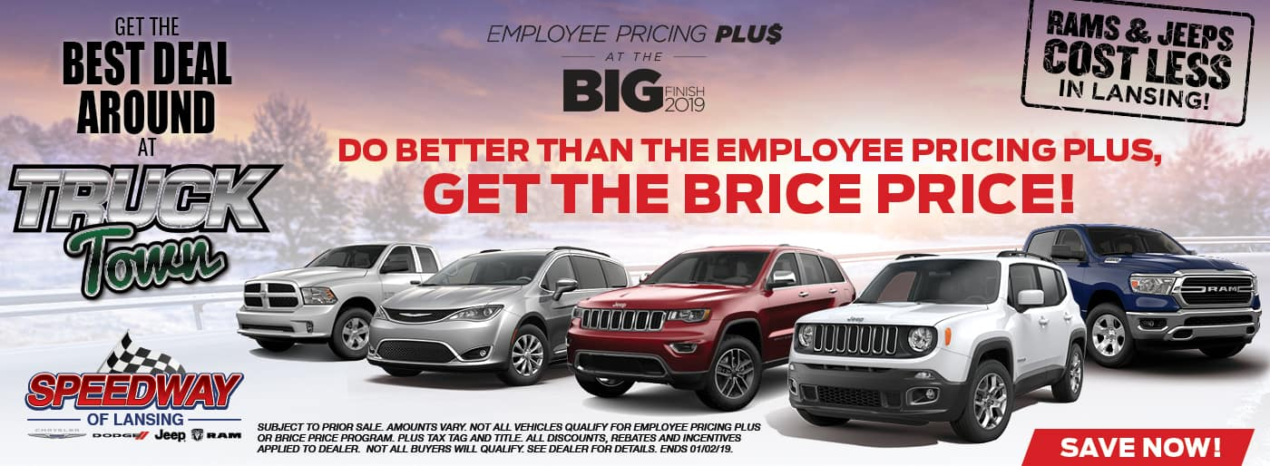 Employee Pricing Plus at Speedway Chrysler Dodge Jeep RAM in Lansing, KS