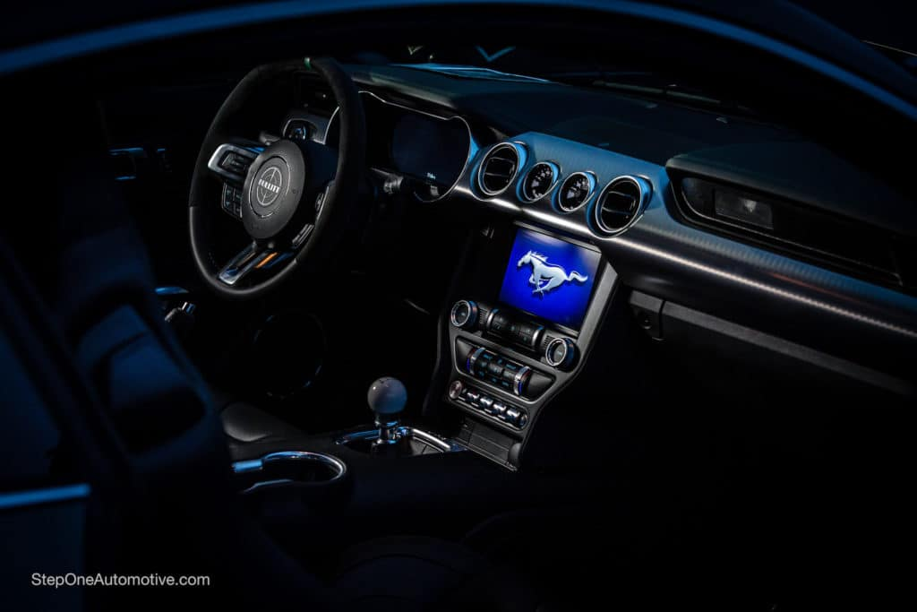 Interior of the Steve McQueen Edition Mustang