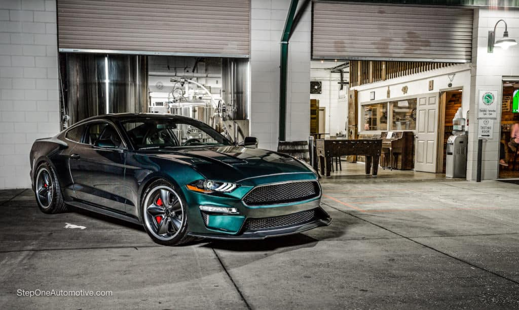 Exterior of the Steve McQueen Edition Mustang