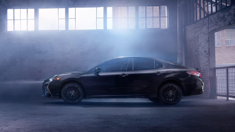 2019 Toyota Camry exterior Midnight Black Metallic Nightshade Edition