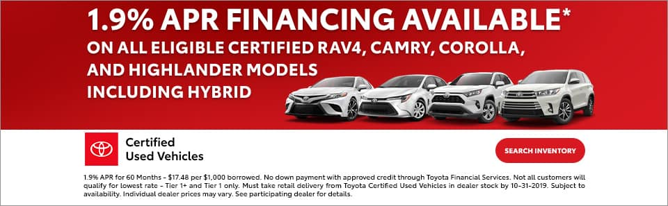 Toyota Certified Preowned at Toyota South