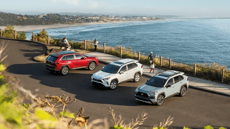 2020 Toyota RAV4 lineup parked