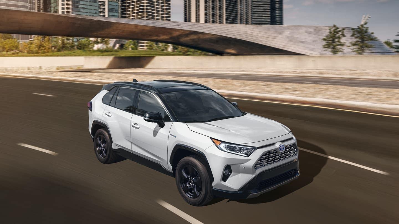 2020 Toyota RAV4 in pearl white