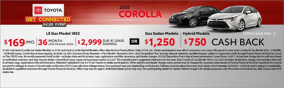 2020 Toyota Corolla at Toyota South in Richmond, KY