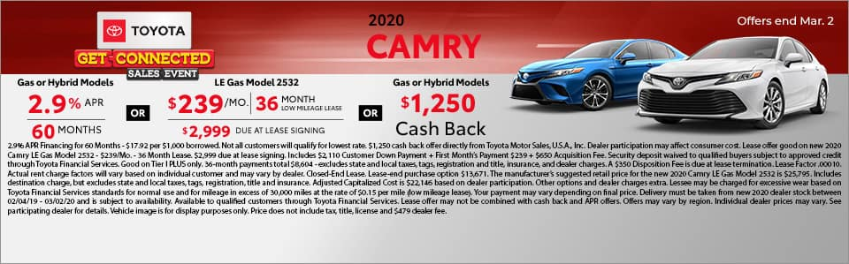 2020 Toyota Camry at Toyota South in Richmond, KY