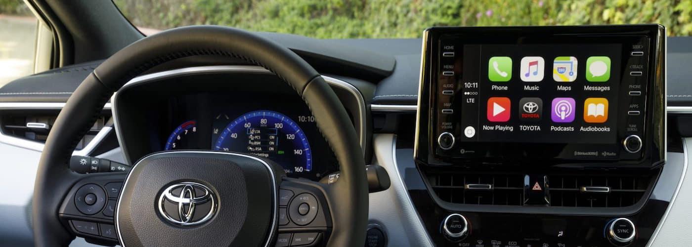Toyota Apple CarPlay interface