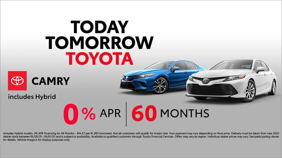 0% for 60 Months on Toyota Camry at Toyota South