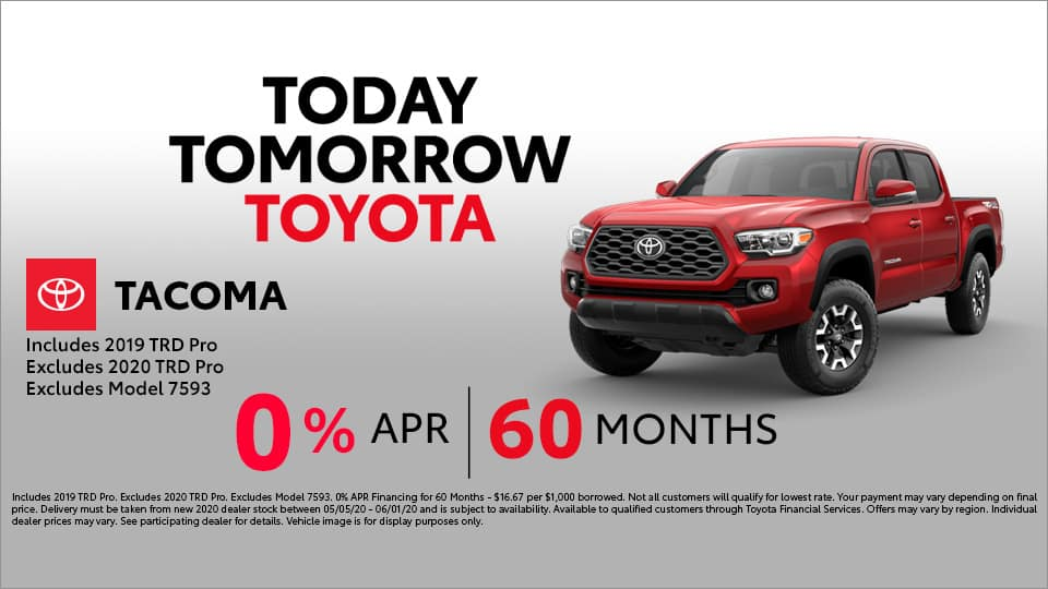 0% APR for 60 Months at Toyota South