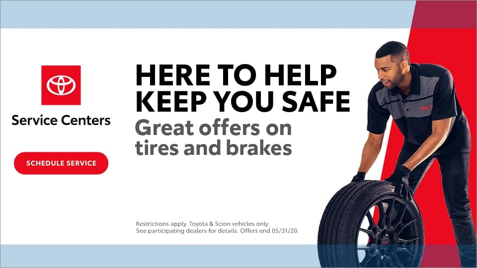 Toyota, Here to help keep you safe, Tire & Brake Event