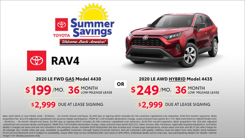 Toyota RAV4 Lease at Toyota South