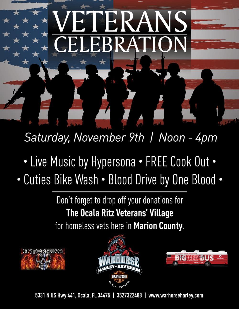 Veterans Celebration at War Horse Harley-Davidson