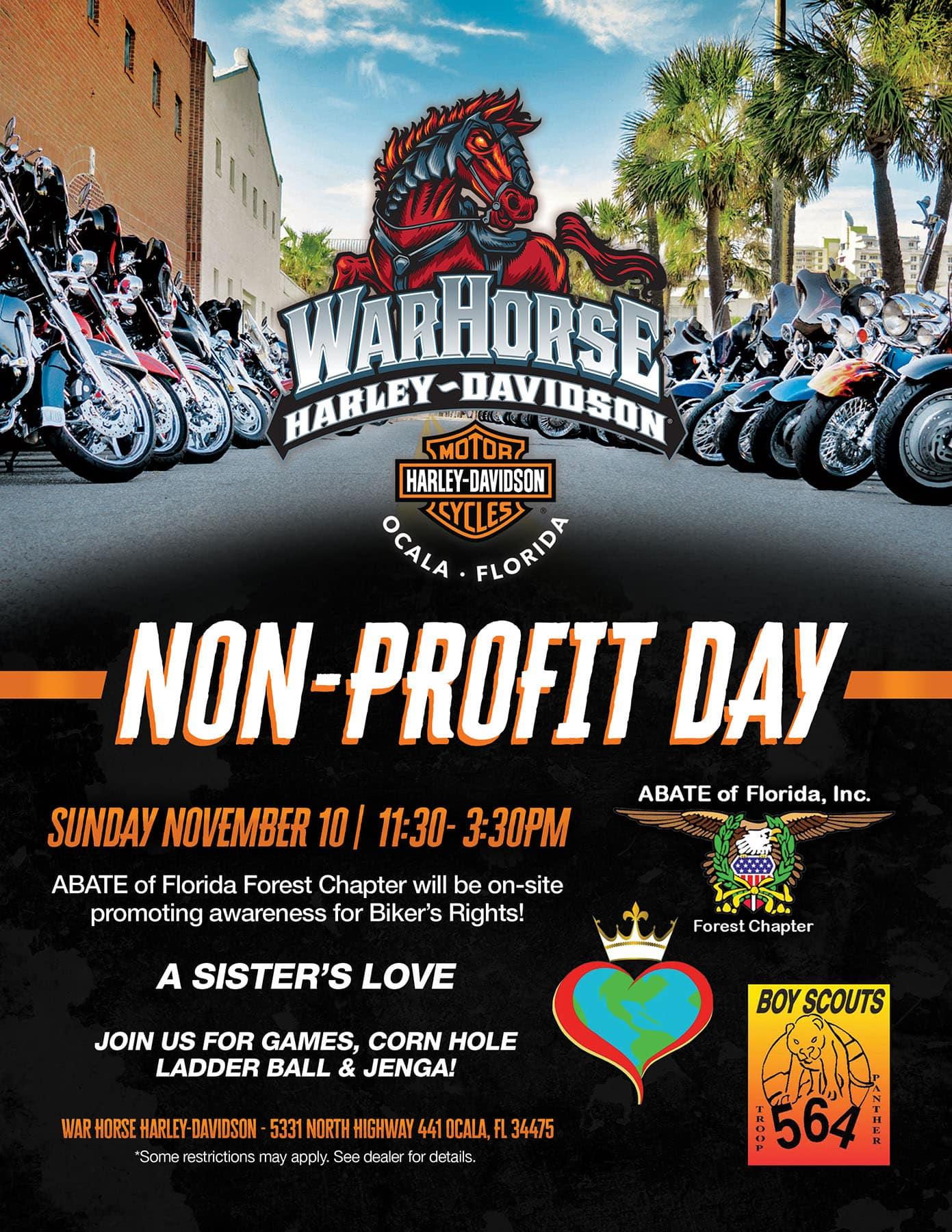 Non-Profit Sunday at WarHorse Harley-Davidson