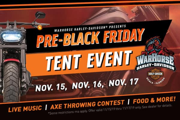 Pre-Black Friday Tent Event