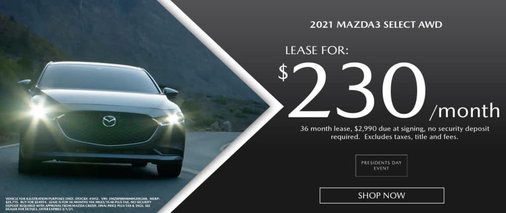 2021 Mazda3 Select AWD
